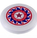 Red and Blue Star Frisbee