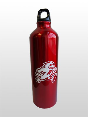 Red Aluminum Water Bottle with College Mascot