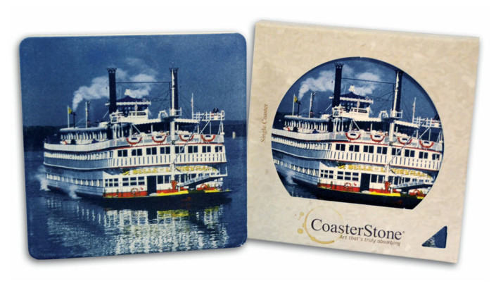 Steamboat Absorbing Coaster Stone