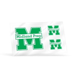 Midland Prep Two Sided Postcard Decal