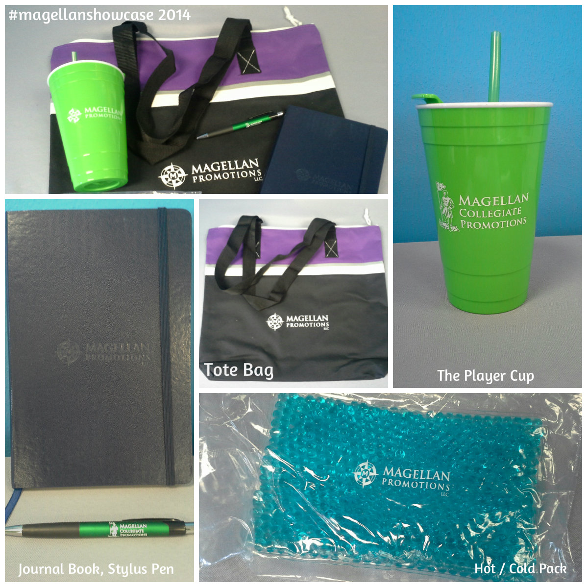 Goodie Bag - samples handed out at the 2014 Magellan Product Showcase