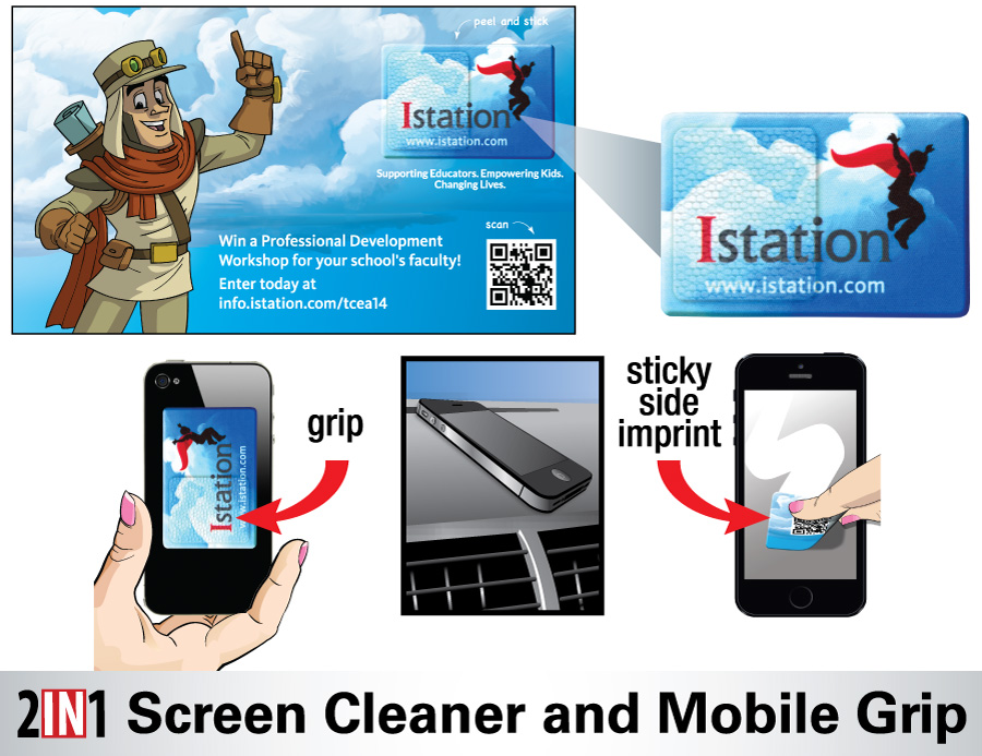 DigiGrips is another mobile phone grip and screen cleaner in one.
