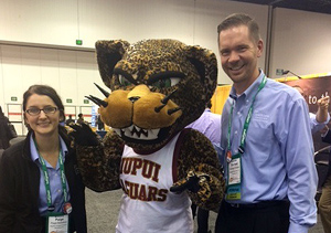 Paige and Michael IUPUI Mascot cropped