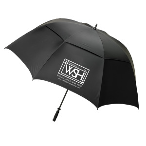 "80"" arc umbrella for campus tours"