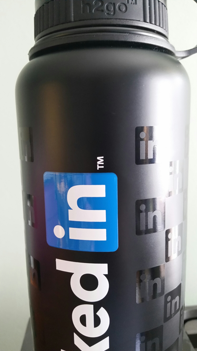 Tone on Tone Wrap Print with LinkedIn Logo
