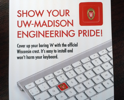 keyboard sticker for your college