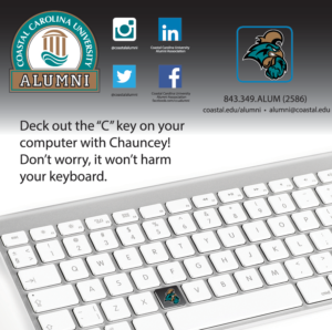 Coastal Carolina 3x3 Keyboard Sticker