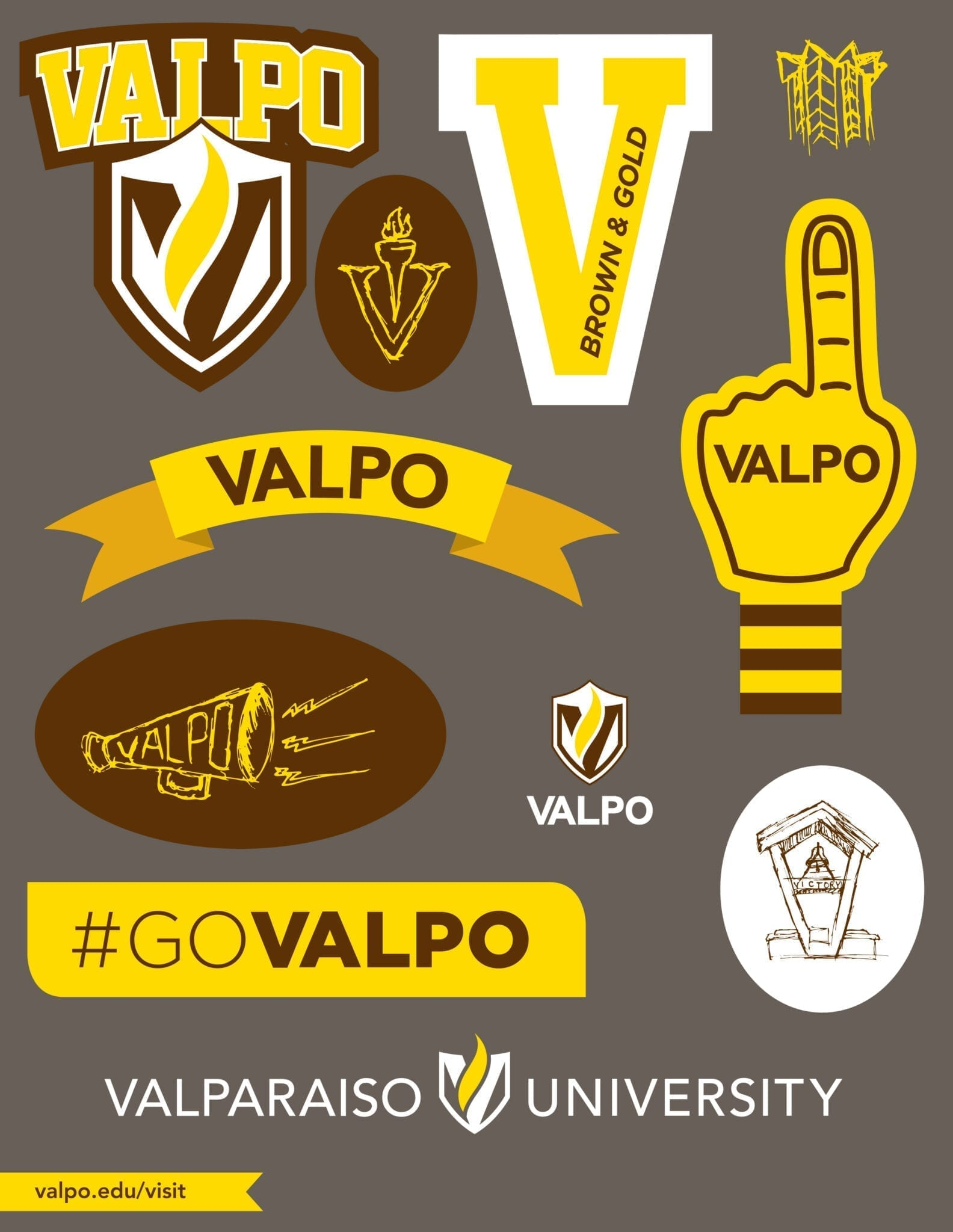 Valparaiso University Sticker Sheet