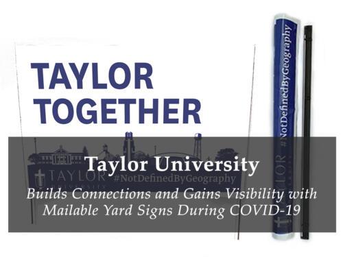 Taylor U - Yard Signs